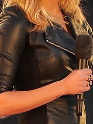 Ashley Roberts Slimfit Leather Dress