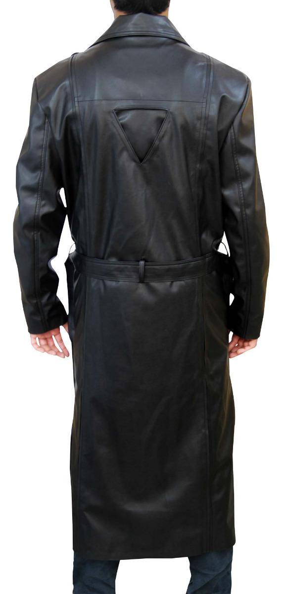 Blade Black Leather Coat