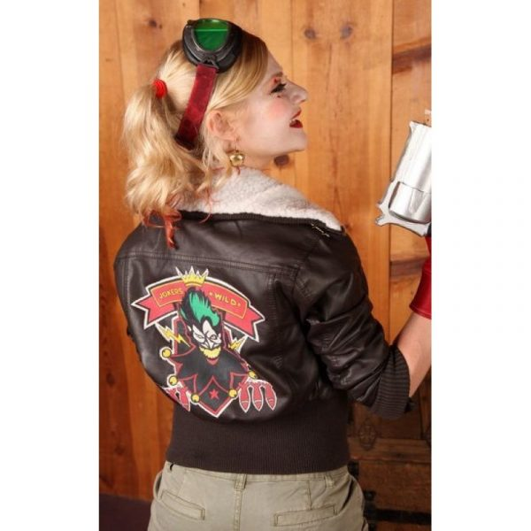 Bombshell Harley Quinn Leather Jacket -0