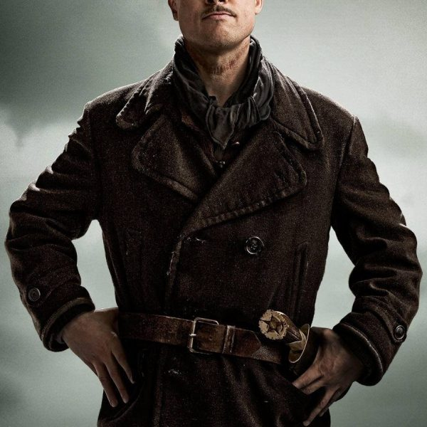 Inglourious Basterds Brad Pitt Leather Jacket-0