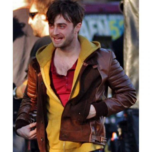 Daniel Radcliffe Brown Leather Jacket