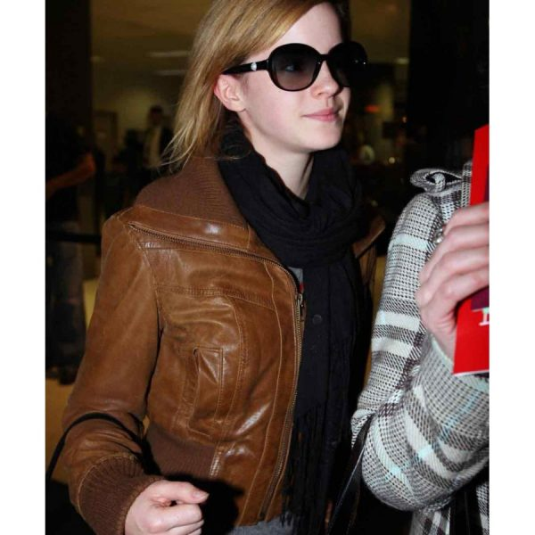 Emma Watson Brown Women's Leather Jacket