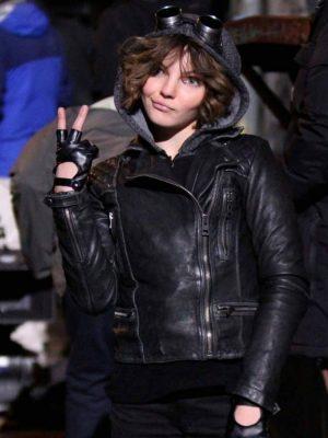 Camren Bicondova Selina Kyle Gotham Black Quilted Jacket