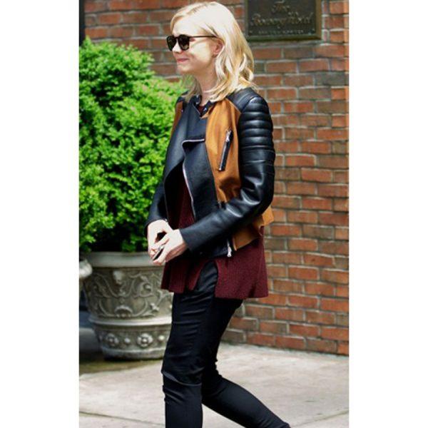 Designer Stylish Carey Mulligan Quilted Jacket