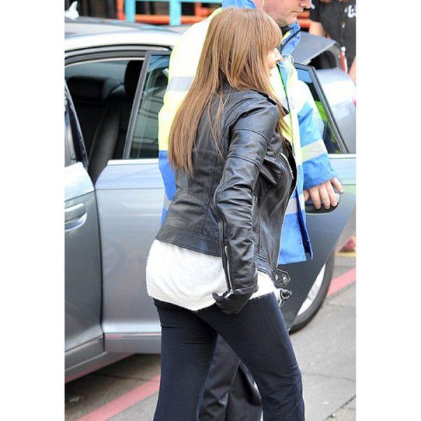 Carol Vorderman Biker Leather Jacket