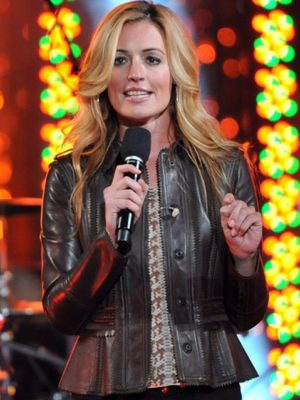 Escape To Total Rewards Cat Deeley Leather Jacket-0