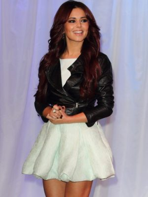 Cheryl Cole Black Leather Jacket-0