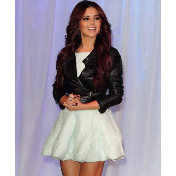 Cheryl Cole Black Leather Jacket-0