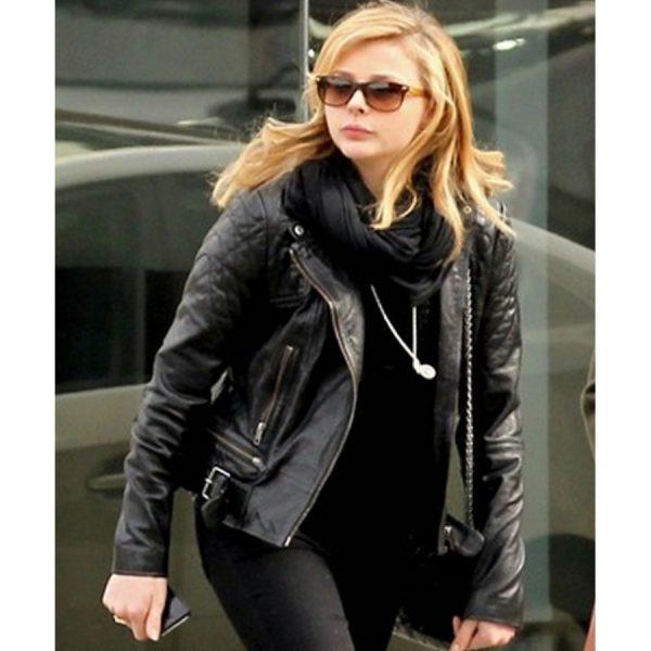 Chloe Moretz Leather Jacket