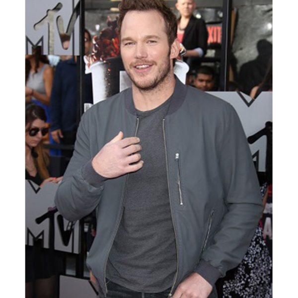 Chris Pratt Jurassic World Bomber Leather Jacket