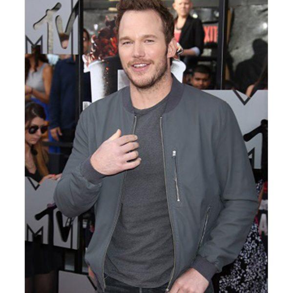 Chris Pratt Jurassic World Bomber Leather Jacket