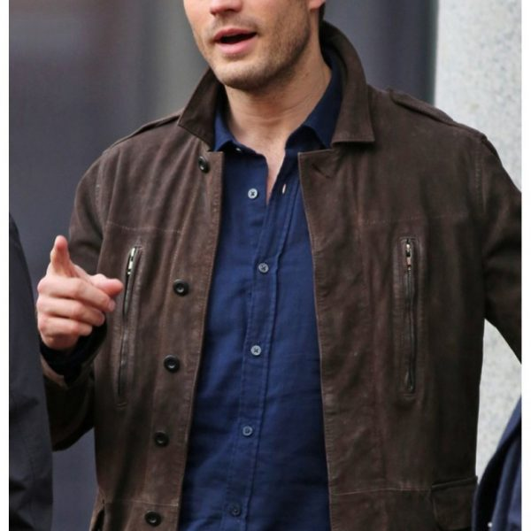 Christian Grey Fifty Shades Darker Leather Jacket-0