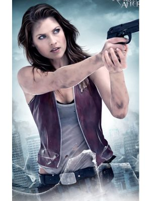 Claire Redfield Red Leather Vest