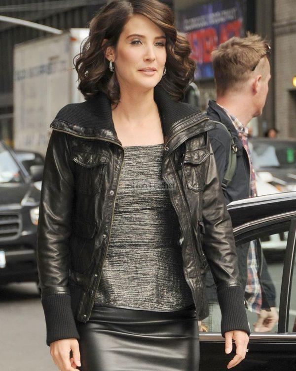 Cobie Smulders Black Jacket