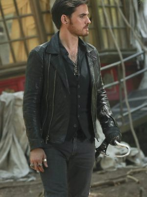 Colin O'Donoghue Once Upon a Time Black Leather Jacket