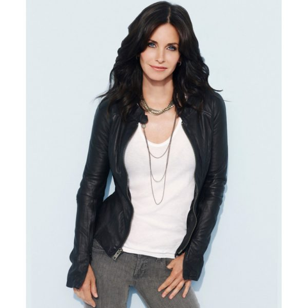 Courteney Cox Black Leather Jacket-0