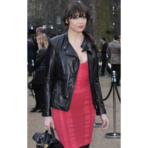 Daisy Lowe Black Leather Jacket
