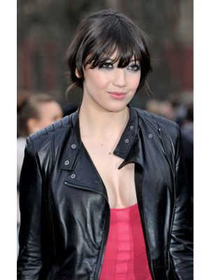 Daisy Lowe Quilted Black Leather Jacket-0