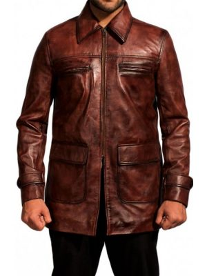 Tuvia Bielski Defiance Brown Leather Jacket