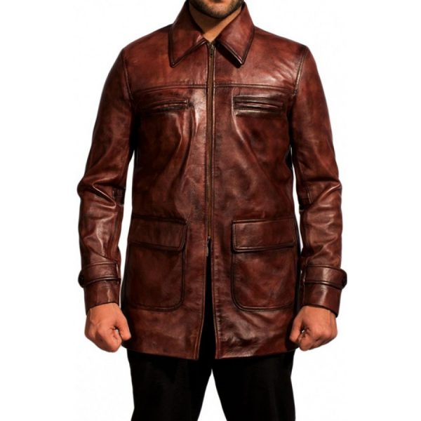 Tuvia Bielski Defiance Brown Leather Jacket