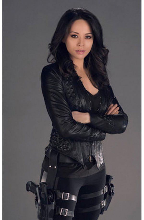 Melissa O'Neil Black Leather Jacket