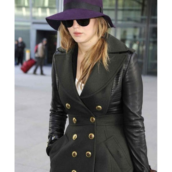 Jennifer Lawrence Black Coat