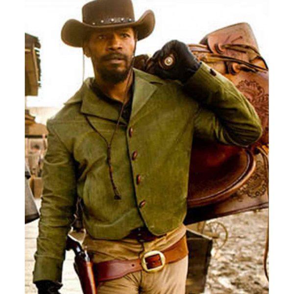 Jamie Foxx Django Unchained Green Jacket-0