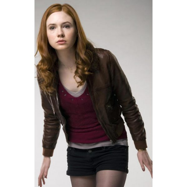 Amy Pond Doctor Who Brown Jacket
