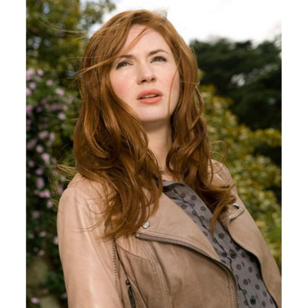 Dr Who The Girl Who Waited Amy Pond Leather Jacket-0