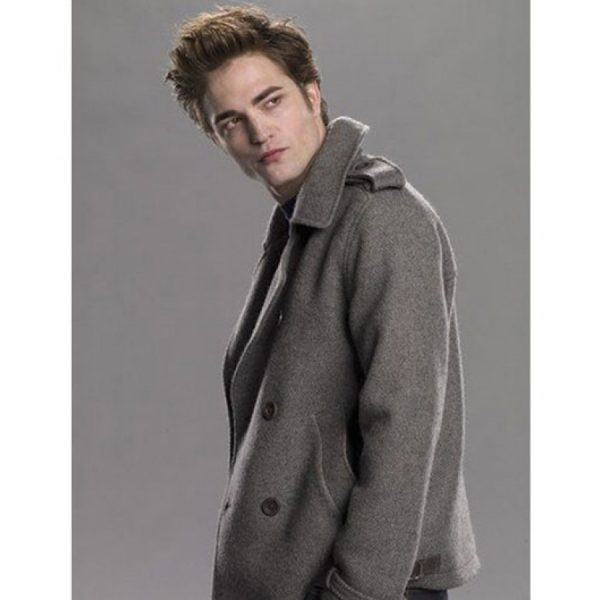 Grey Edward Cullen Pea Coat