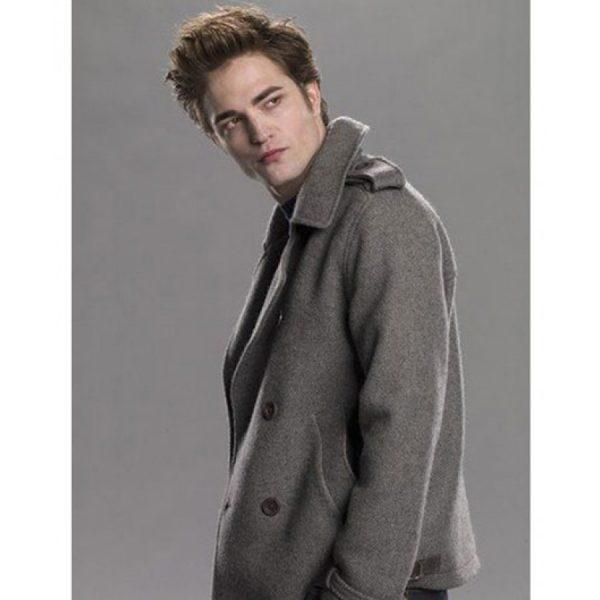 Grey Edward Cullen Pea Coat