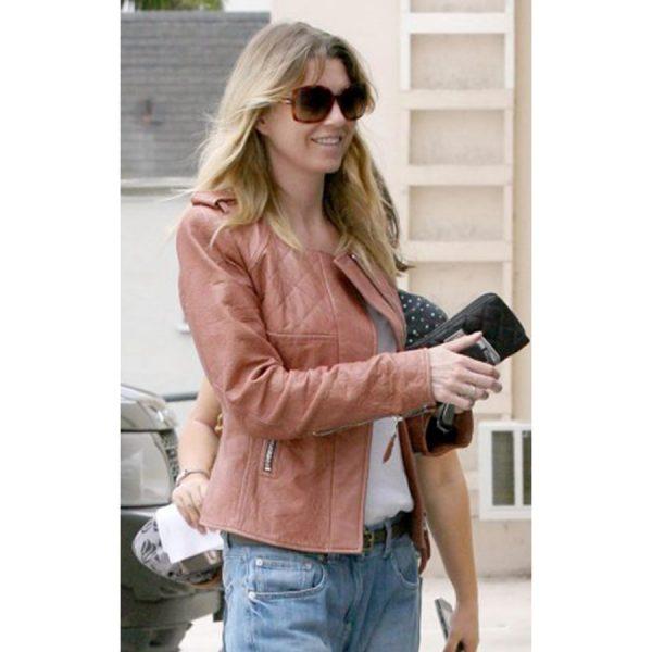 Ellen Pompeo Brown Jacket