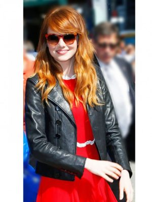 Emma Stone Leather Jacket-0