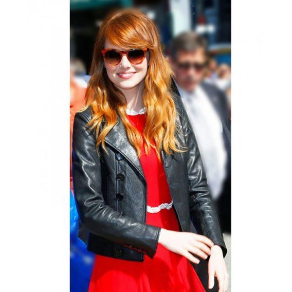 Emma Stone Leather Jacket-0