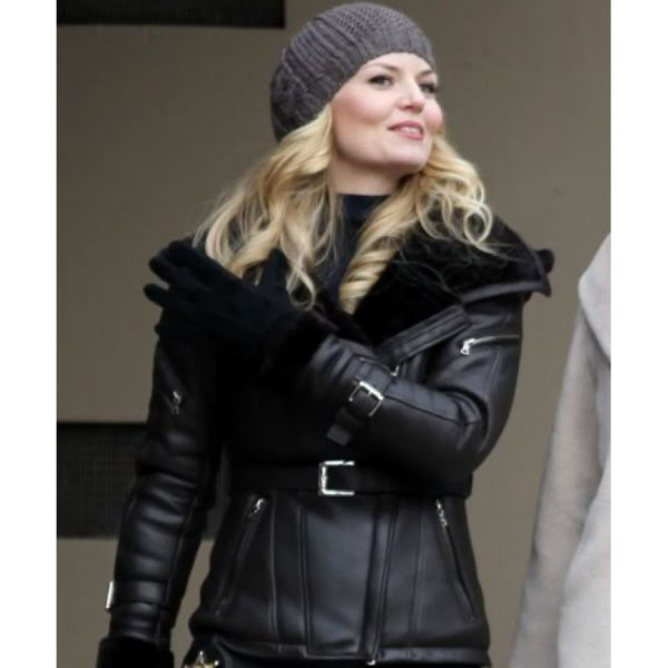 Emma Swan Once Upon A Time Leather Black Jacket