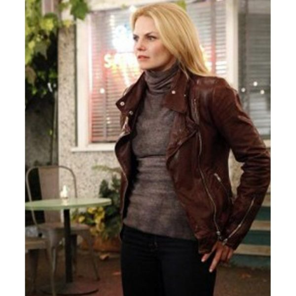 Emma Leather Jacket Once Upon a Time Season-0