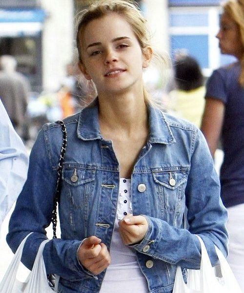 Emma Watson Denim Jean Jacket-0