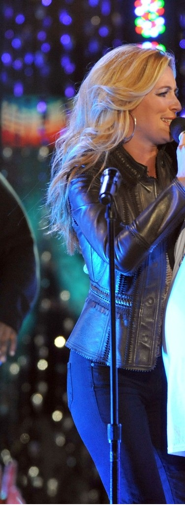 Cat Deeley Escape To Total Rewards Vintage Brown Leather Jacket