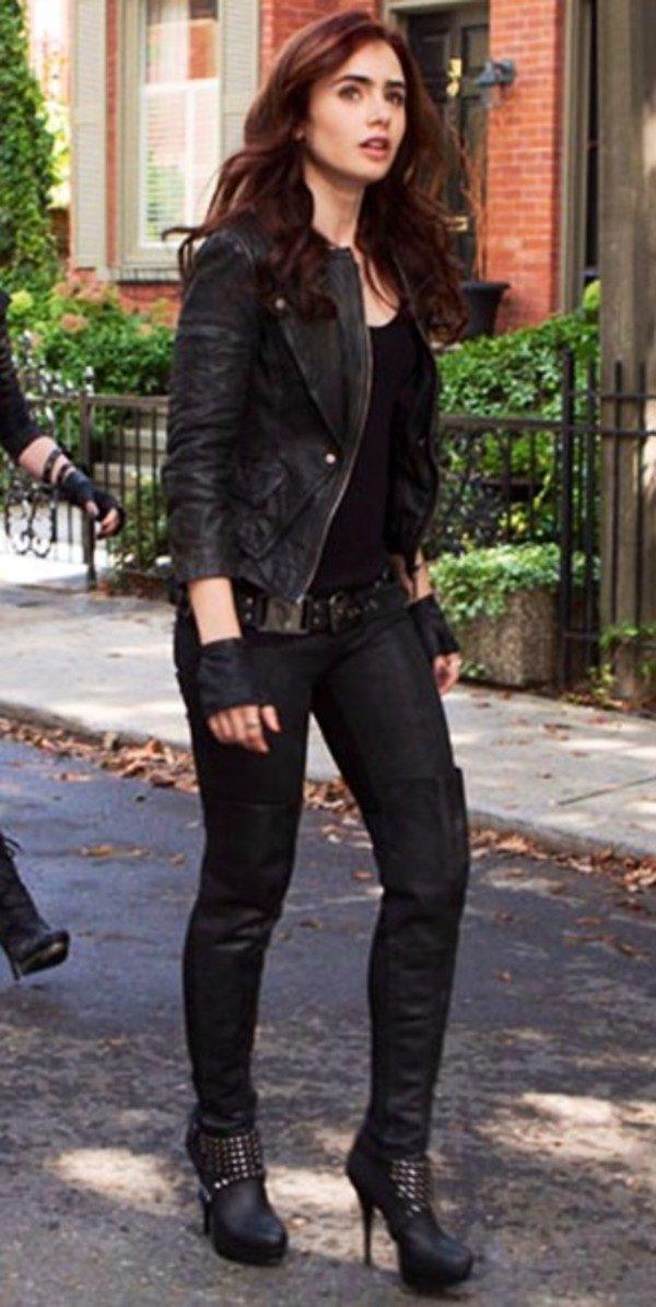 Lily Collins Black Jacket