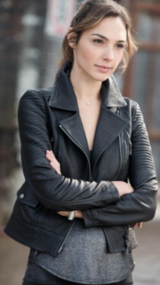 Gisele Harabo Fast And Furious 6 Gal Gadot Leather Jacket-0