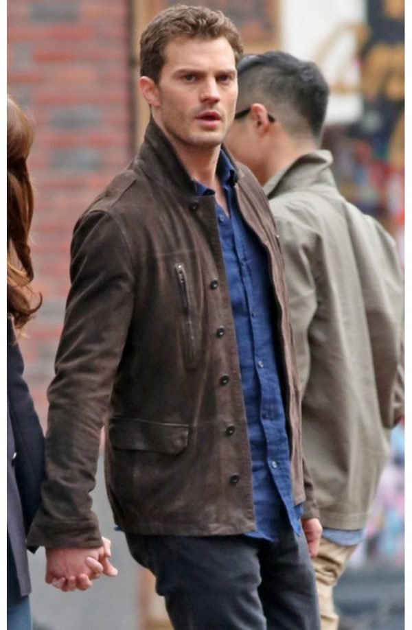 Fifty Shades Darker Christian Grey Brown Leather Jacket