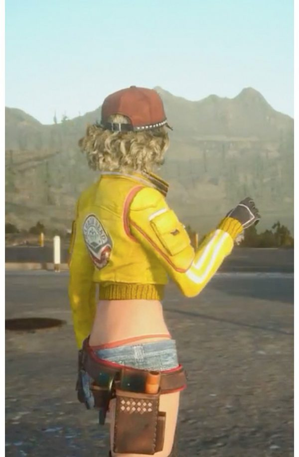 Cindy Final Fantasy XV Yellow Leather Jacket
