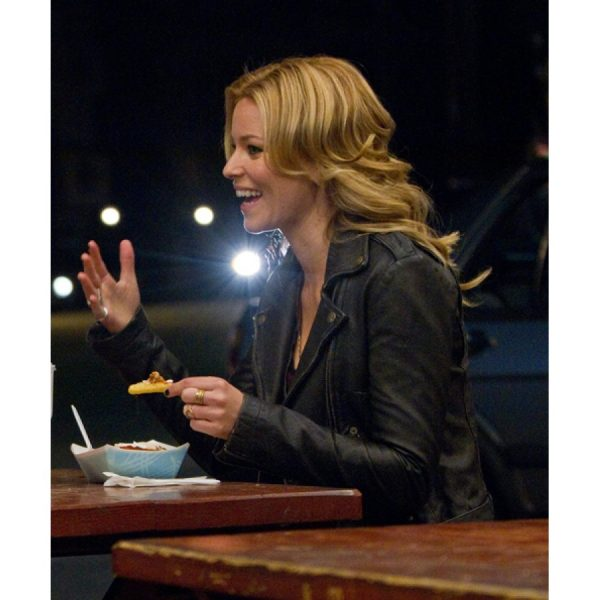 Elizabeth Banks People Like Us Frankie Black Leather Jacket