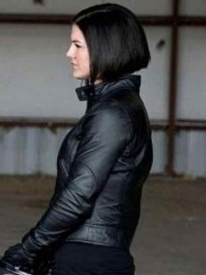 Haywire Gina Carano Biker Leather Jacket