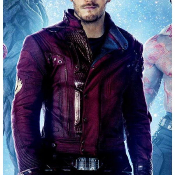 Peter Quill Guardians of The Galaxy Star Lord Leather Jacket-0