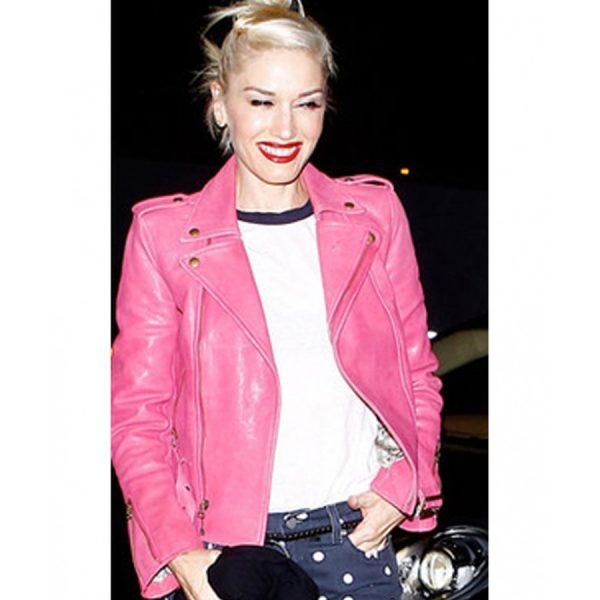 Gwen Stefani Pink Biker Jacket