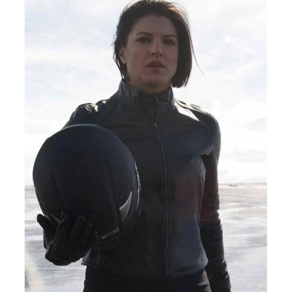 Haywire Gina Carano Ladies Leather Motorcycle Jacket-0