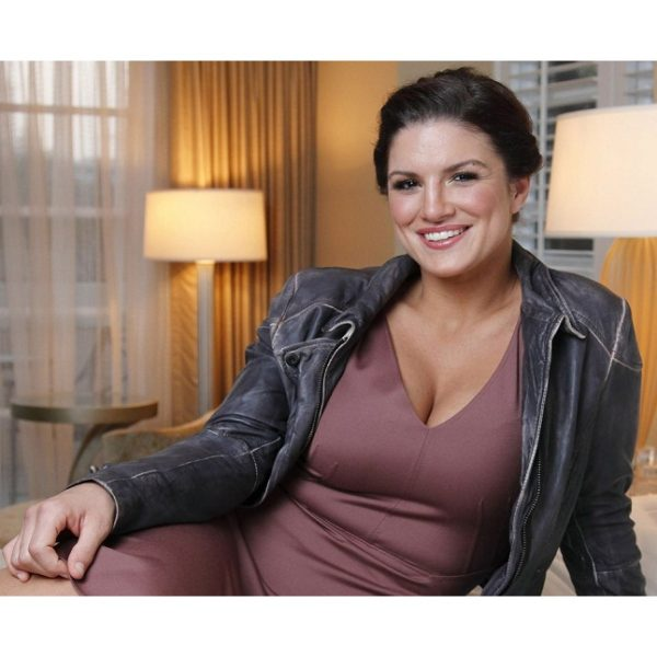 GINA CARANO HAYWIRE DISTRESSED LEATHER JACKET