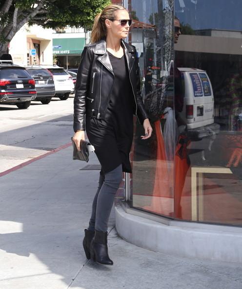 Heidi Klum Black Jacket