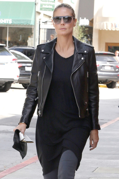 Heidi Klum Black Leather Jacket-0